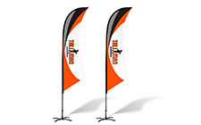 Bowed Feather Flags
